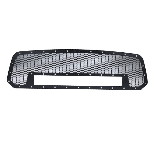 DODGE MESH GRILLE W/20IN DUAL ROW BLACK SERIES LED ( 2013-2016 RAM 1500)